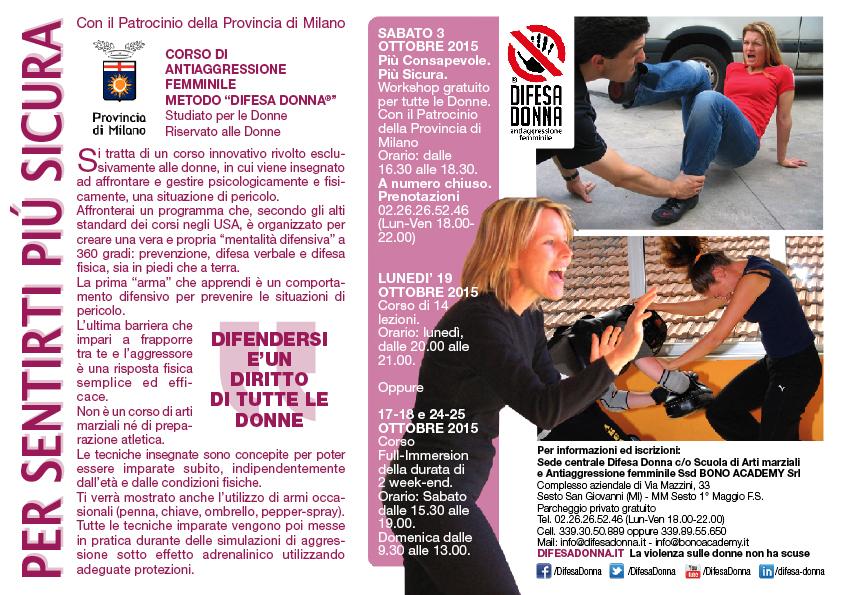 poste di seminario difesa donna - Per sentirti più sicura - difesa personale a Sesto San giovanni