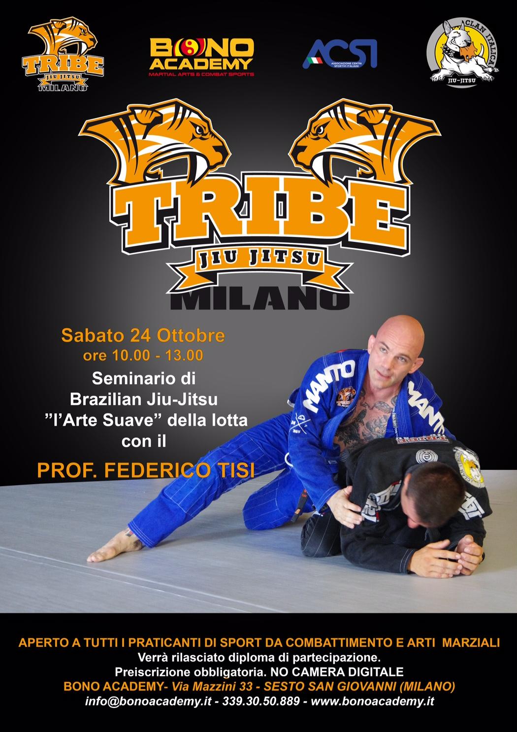 Seminario di Brazilian Jiu-jitsu con il Professor Federico Tisi